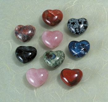 Gemstone Heart, Assorted- Small