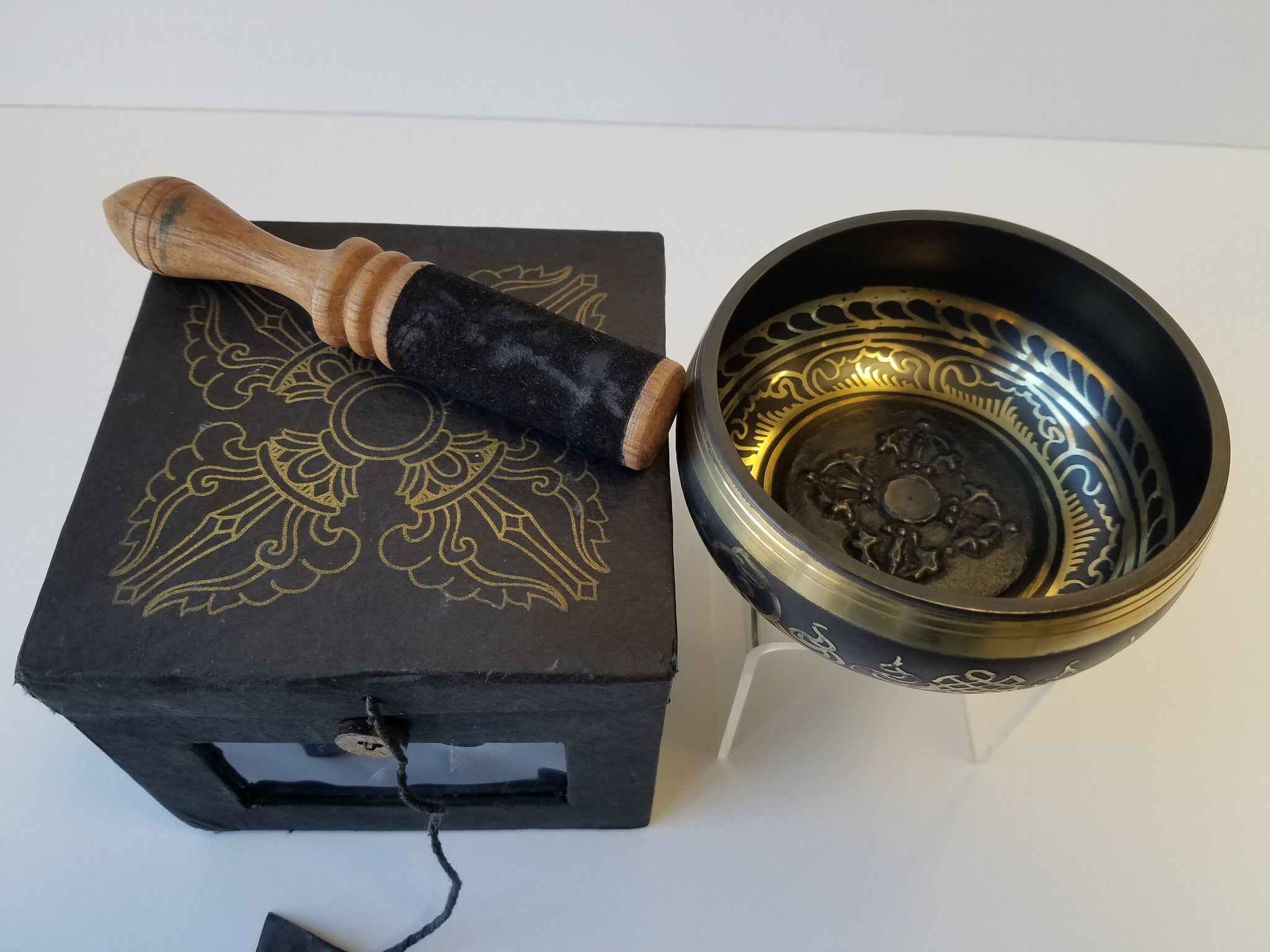 Singing Bowl- Etched Design Gift Set