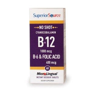 Methylcobalamin B-12 1000mcg, B-6 & Folic Acid
