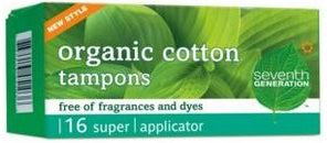 Tampon, Organic, Super w/Applicator