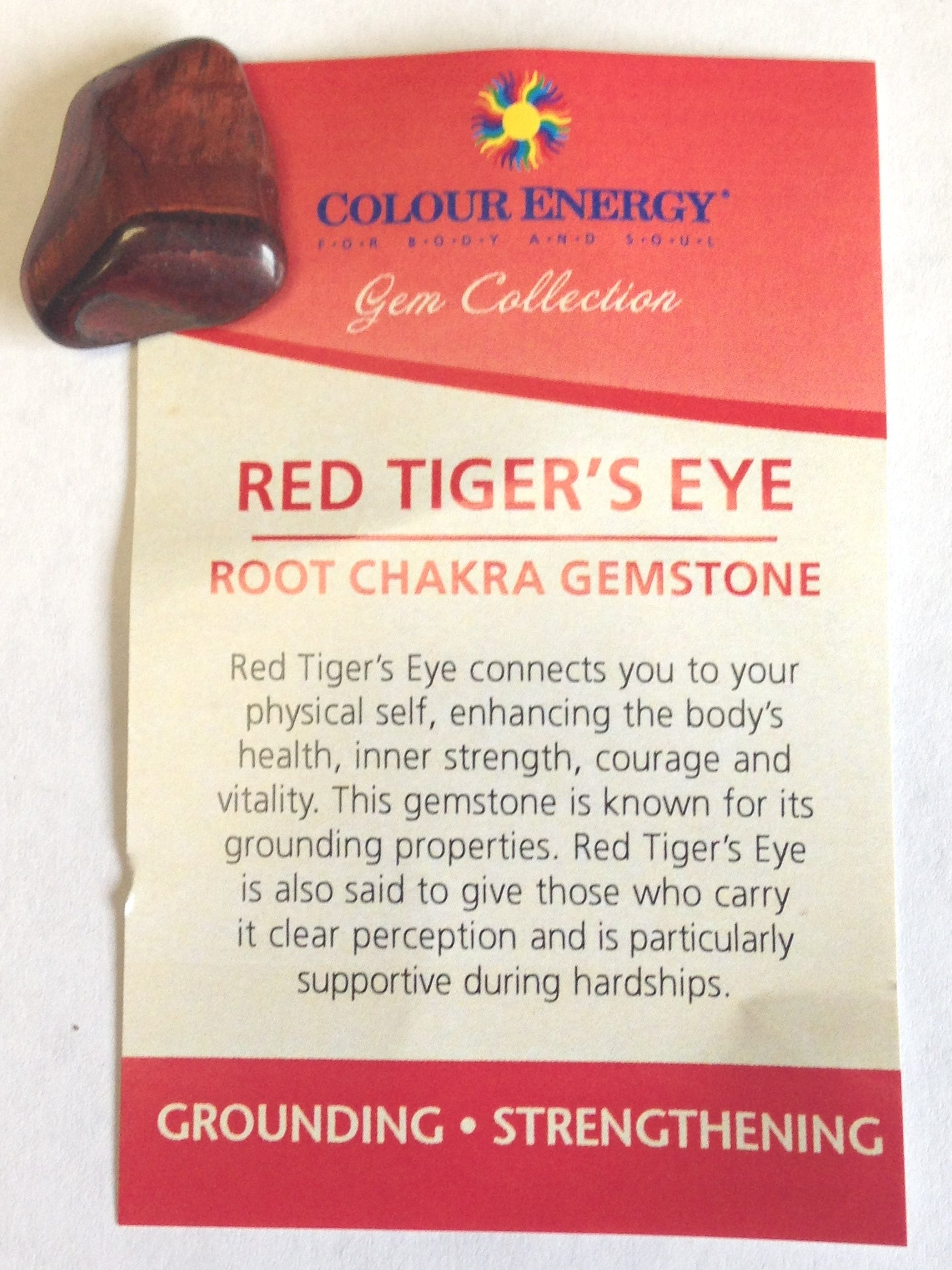 Chakra Gemstone- Red Tiger's Eye
