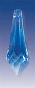 Crystal- Icicle Drop, Blue, 40 mm