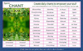 Daily Chants Magnets, Spirit Series (Do not order with Vibropathics™)
