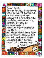 Greeting Card- Dear God