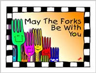 Greeting Card- Forks