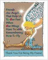 Greeting Card- Friends Are Angels