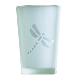 Glass Votive Holder- Dragonfly