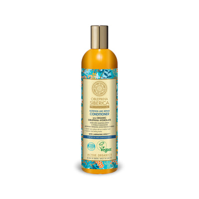 Conditioner with Organic Oblepikha Hydrolate For Weak and Damaged Hair, 400 ml