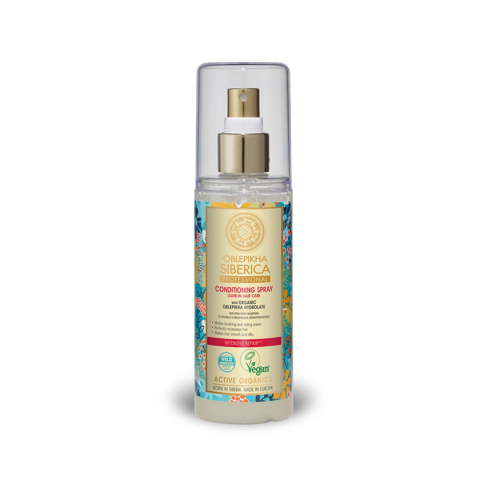 Conditioning Spray with Organic Oblepikha Hydrolate, 125 ml