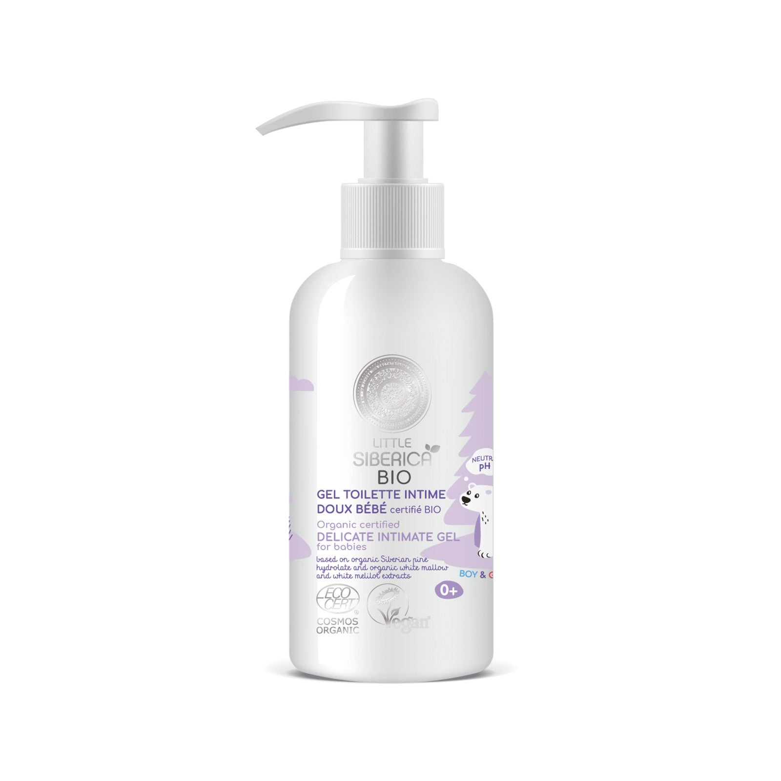Delicate intimate gel for babies, 250 ml