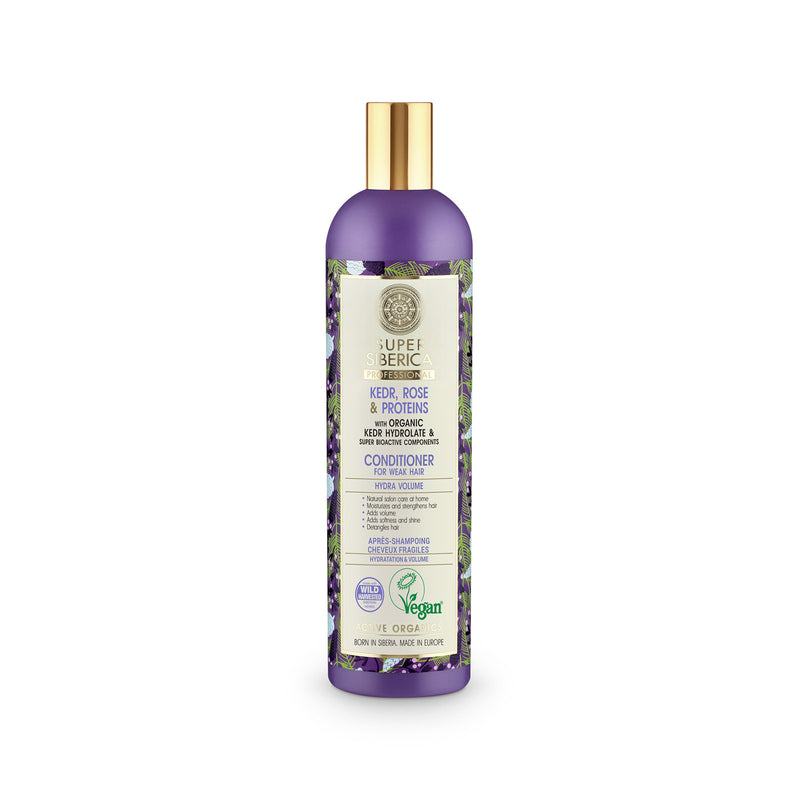 Super Siberica Kedr, rose & proteins. Conditioner for Weak Hair, 400 ml