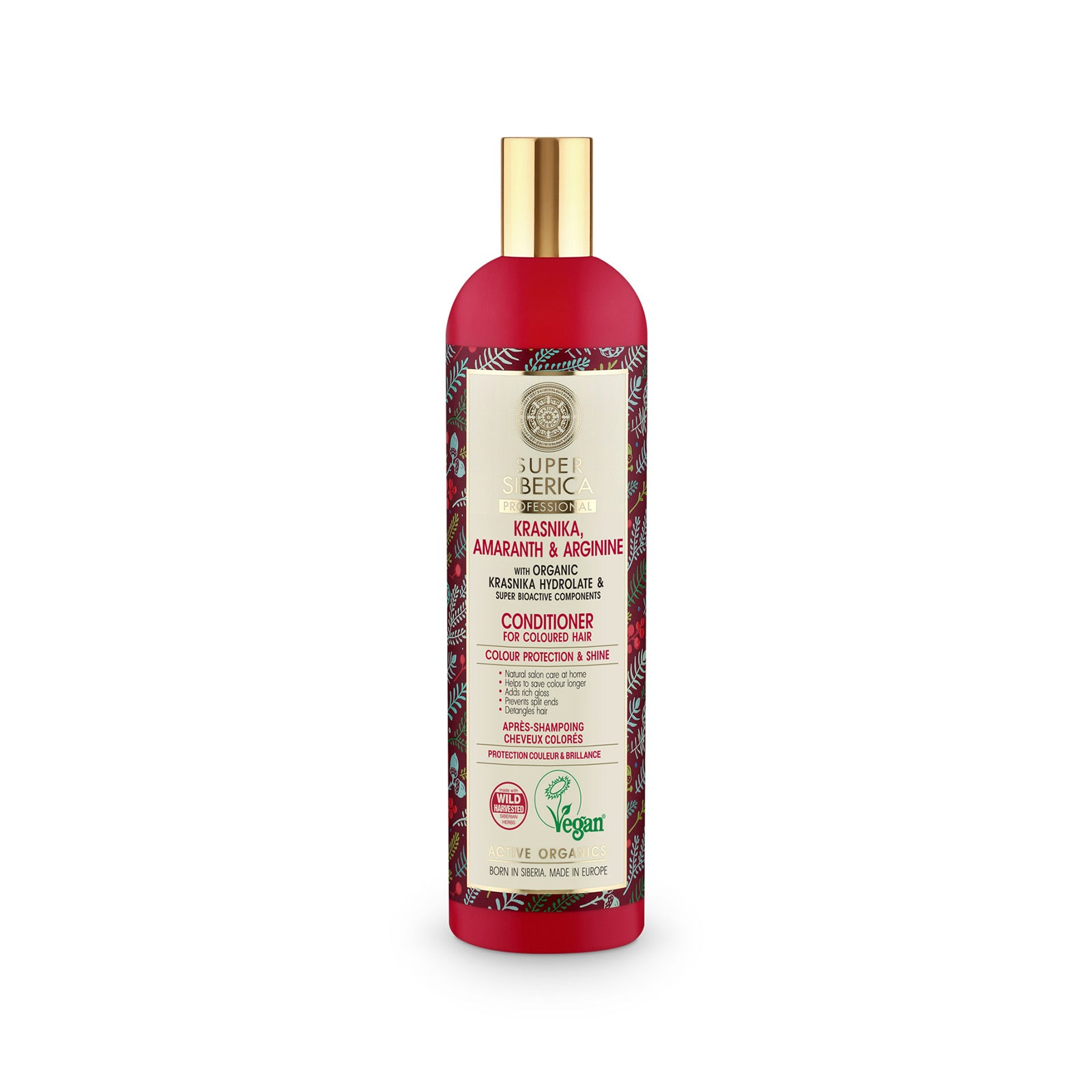 Super Siberica Krasnika, amaranth & arginine. Conditioner for Coloured Hair, 400 ml