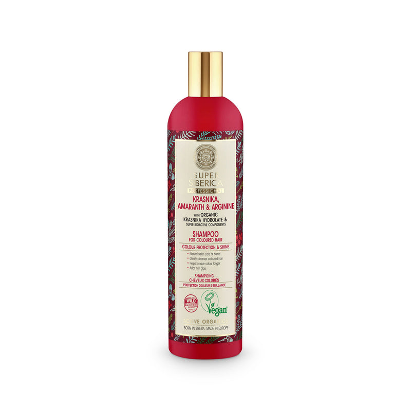 Super Siberica Krasnika, amaranth & arginine. Shampoo for Coloured Hair, 400 ml