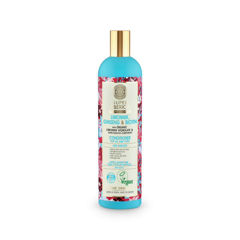Super Siberica Limonnik, ginseng & biotin. Conditioner for All Hair Types, 400 ml