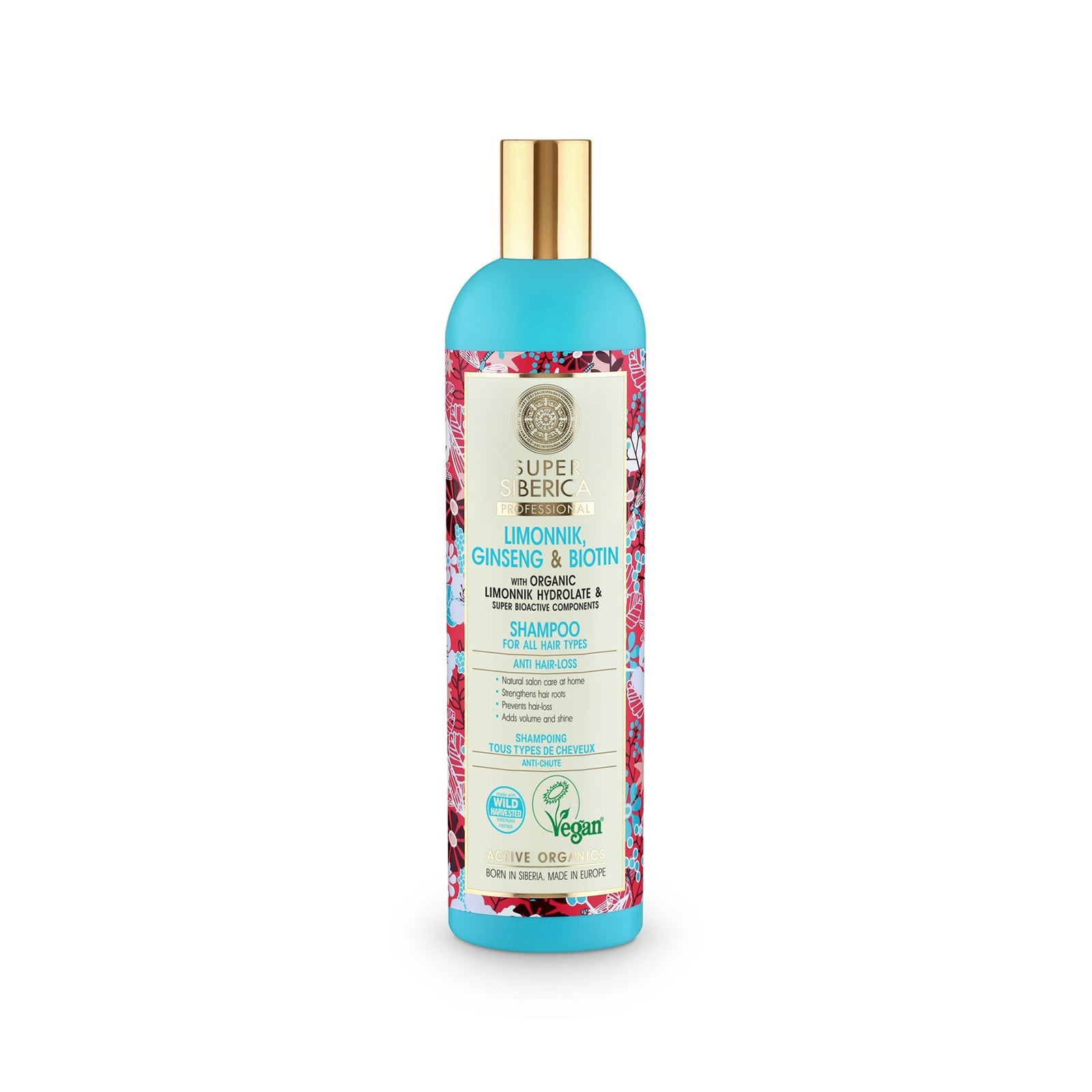Super Siberica Limonnik, ginseng & biotin. Shampoo for All Hair Types, 400 ml