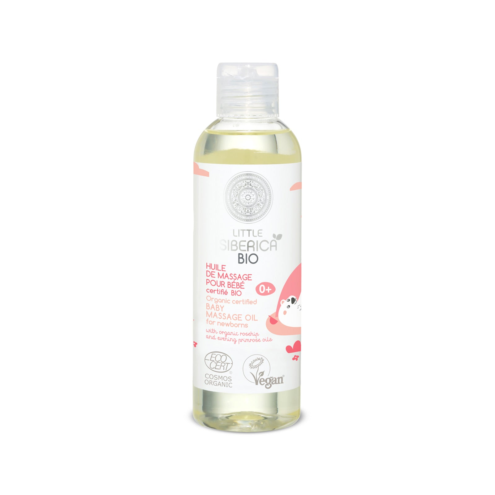 Organic certified Baby massage oil for newborns, 200 ml