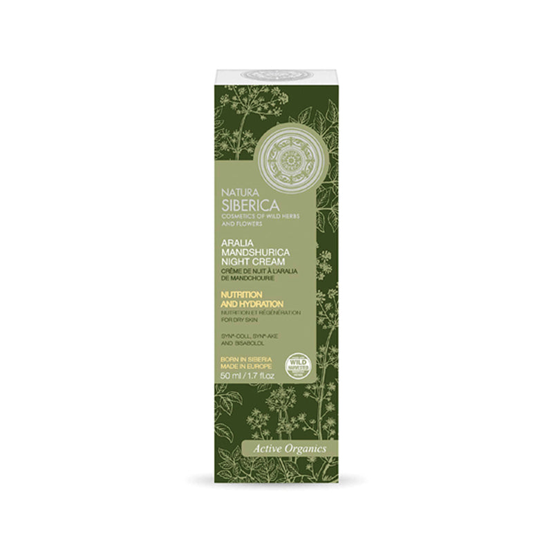 Aralia Mandshurica Night Cream, Dry skin, 50 ml