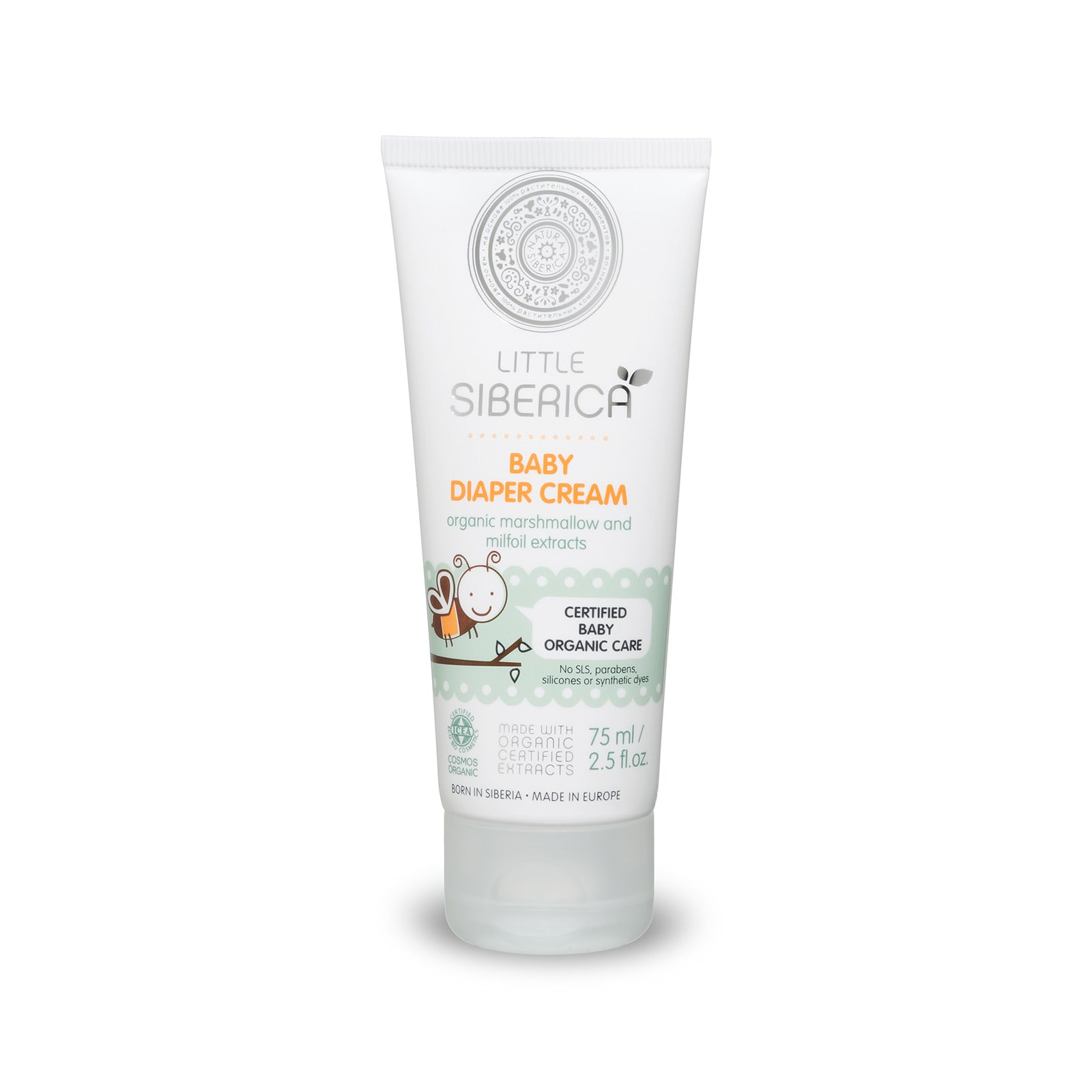 Little Siberica Baby Diaper Cream, 75 ml