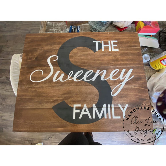 Custom The Family Wood Sign - Wood Signs