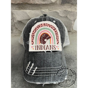 Rainbow Indians Ponytail Trucker Hat