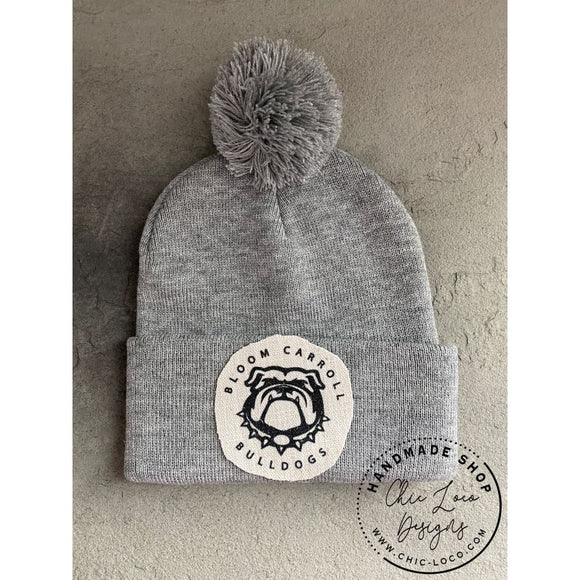Unisex Bloom Carroll Bulldogs Beanie Hat - Chic Loco Designs