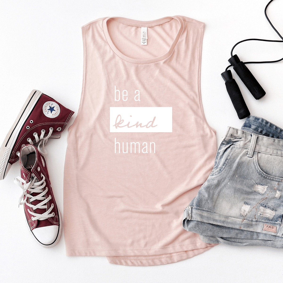 Be a Kind Human - Bella+Canvas Tank Top