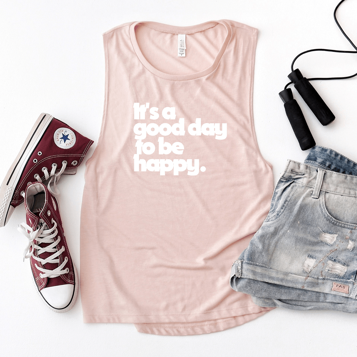 It's a Good Day to be Happy - Bella+Canvas Tank Top
