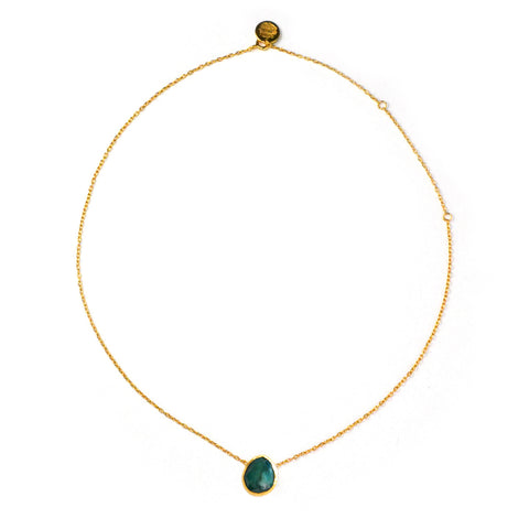 One Stone Necklace: Emerald
