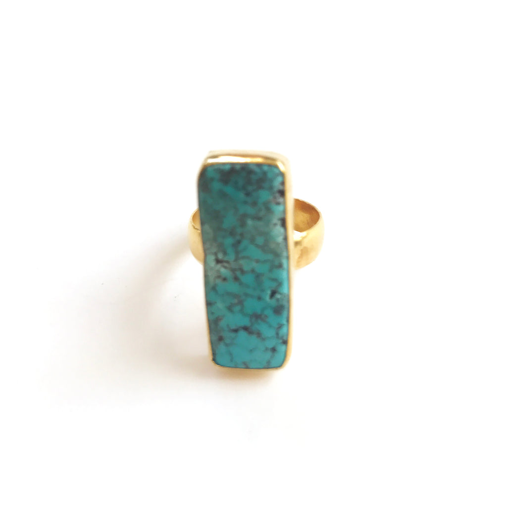 1 Stones Ring : Turquoise