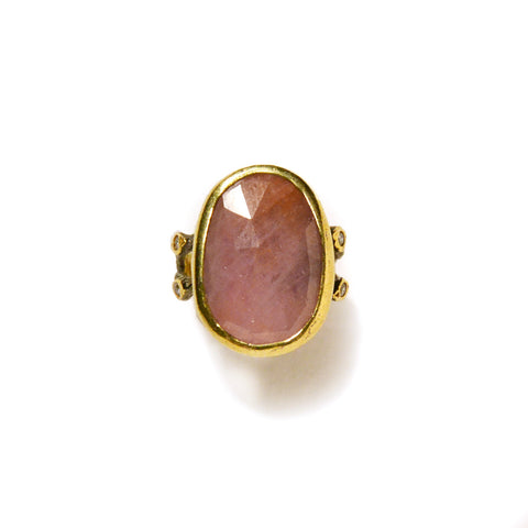 One Stone Ring : Ruby