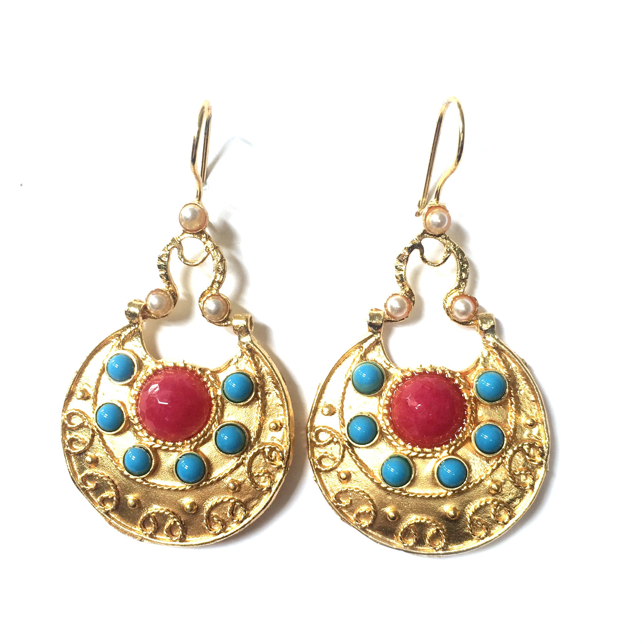 Ottoman Earring : Blue & Red