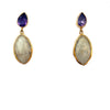2 Drop Earrings (M-size) : Amethyst x Agate