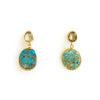 2 Drop Earrings (M-size) : Topaz x Turquoise