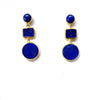 3 Drop Earrings ( M-size): Lapis Lazuli