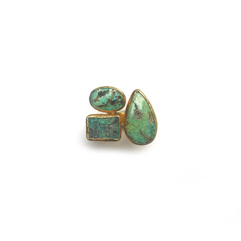 3 Stones Ring : Turquoise