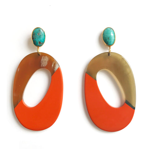 Horn Earring : Orange