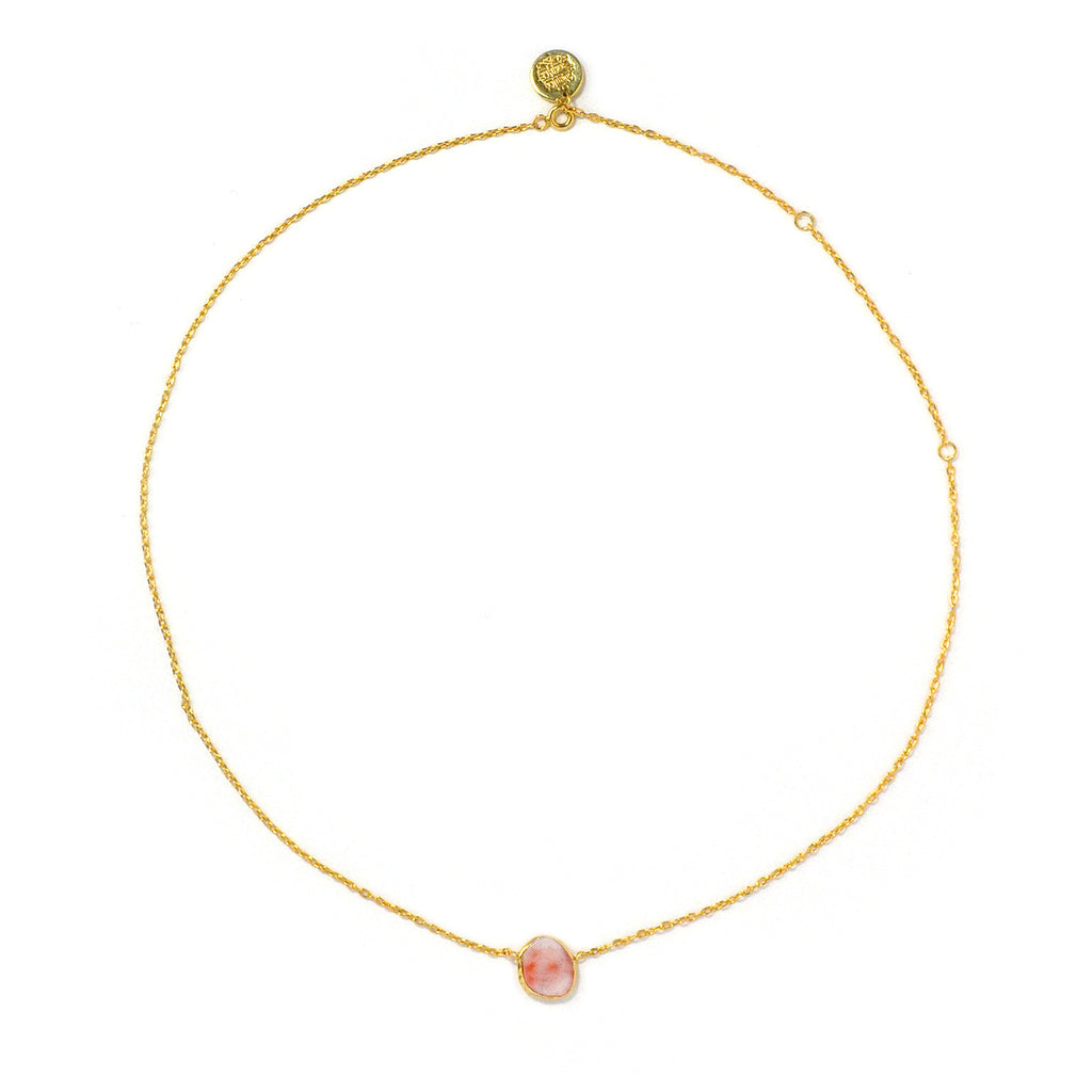 Thin Necklace: Coral