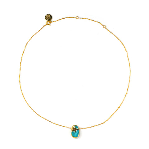 Thin Necklace: Turquoise