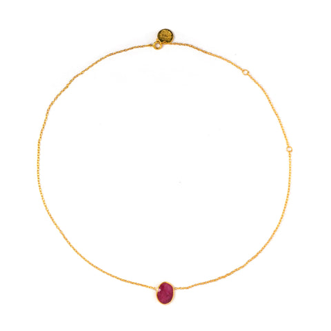 Thin Necklace: Ruby