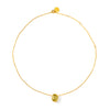 Thin Necklace: Lemon Quartz