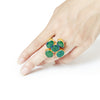Flower Ring : Emerald