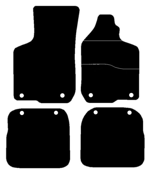 Buy new Audi A3 1996-2002 With Clips In All Mats Car Mats online.