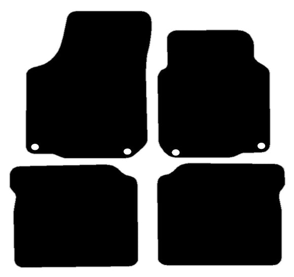 Buy new Seat Leon 2002-2005 With Oval Fixings Driver And Passenger Car Mats online.