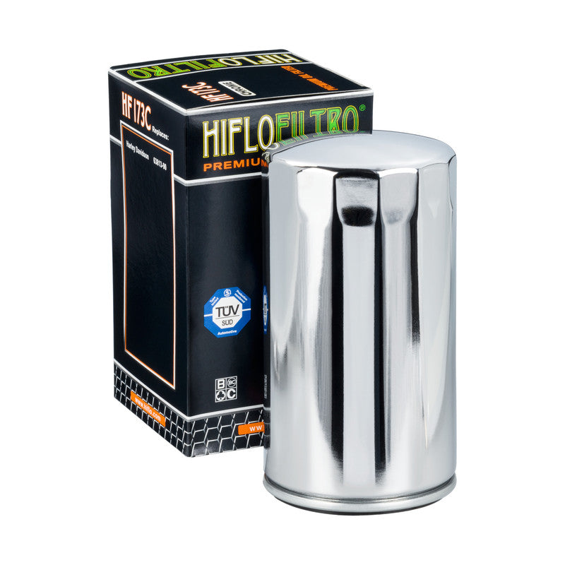 Hiflo Premium Oil Filter CHROME (HF173C)