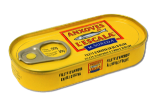 Anchovy fillets in olive oil - 50g tin