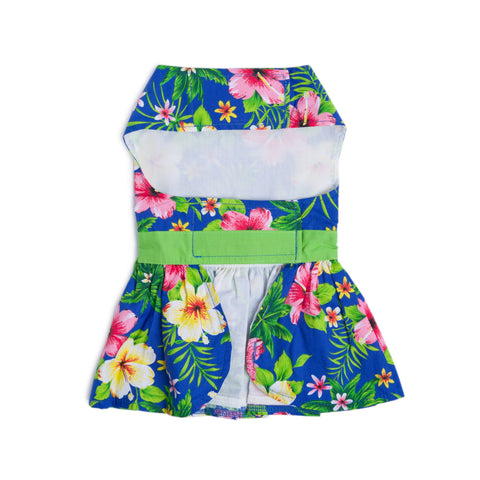 Hawaiian Dog Dress - Blue Lagoon