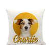 Pet Portrait Linen Pillow and Insert