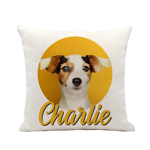 Pet Portrait Linen Pillow & Insert