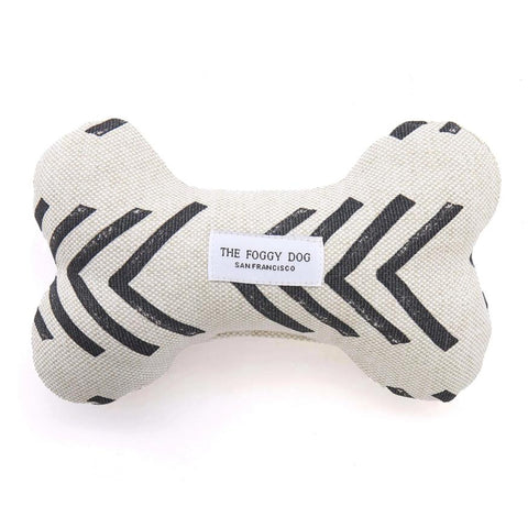 Dog Bone Squeaky Toy - Modern Mud Cloth