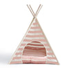 Striped Pet Teepee - Pink